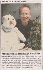 Weihnachten in der Stubenberger Studiobühne