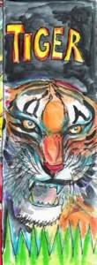 Lesezeichen Tiger