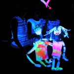 Schwarzlichttheater-Workshop mit Schülerinnen der BAKIP Klagenfurt